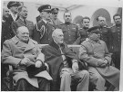 Image result for Russian head-of-state gave an elaborate banquet to honor the British Prime Minister Winston Churchill