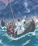 Image result for Jesus calming the storm in the sea. Size: 131 x 160. Source: seedsoffaith.cph.org