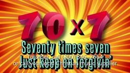 Image result for forgive 70 times seven
