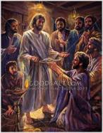 Image result for resurrected Jesus appears to Apostyles in the Cenacle